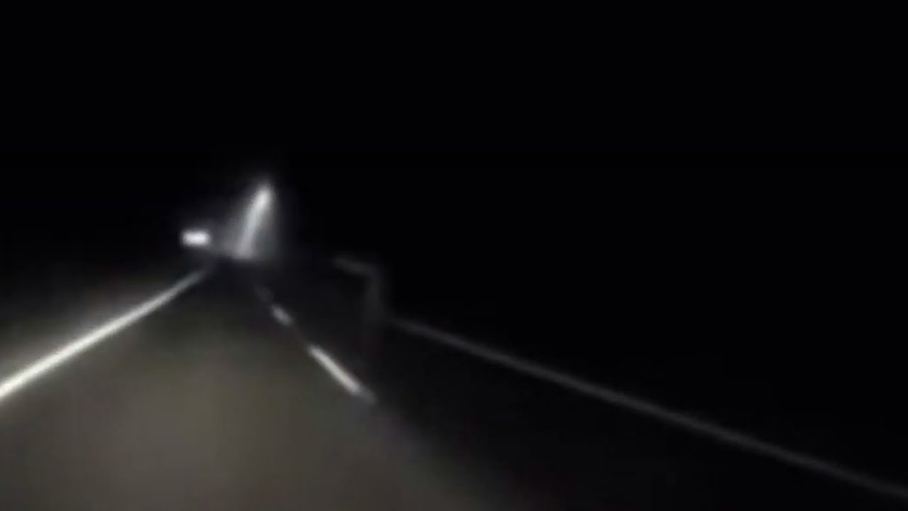 Hitchhiking Ghost Filmed Along Side a Road In Malaysia
