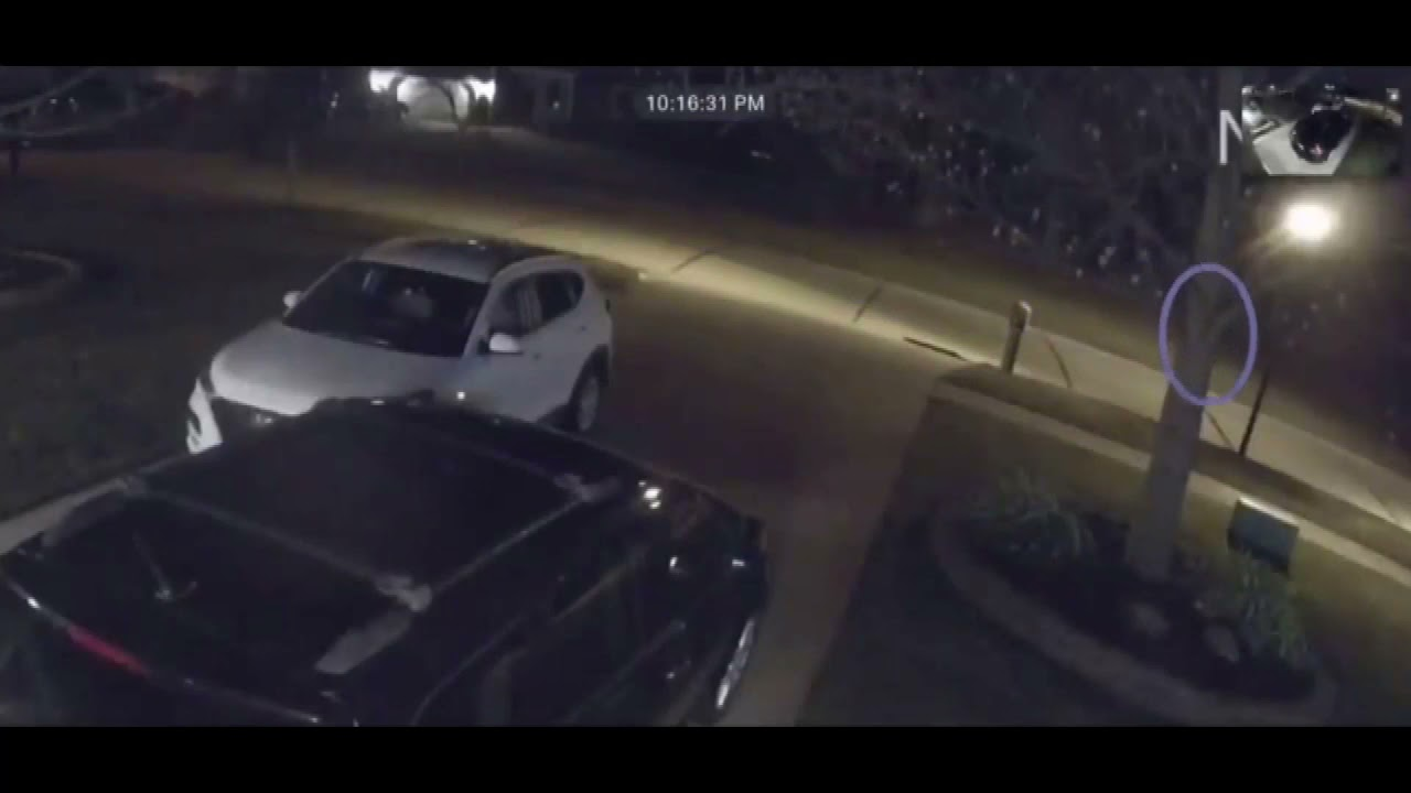 Ghost Spotted On Camera Running Down Street